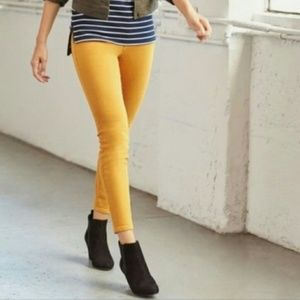 J. Crew Toothpick Skinny Ankle Jeans Mustard 26